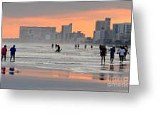 North Myrtle Beach At Sunset Greeting Card