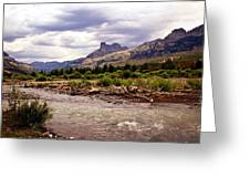 North Of Dubois 3 Greeting Card