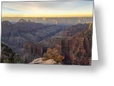 North Rim Sunrise Panorama 2 - Grand Canyon National Park - Arizona Greeting Card
