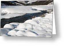 North Saskatchewan River In Winter Greeting Card