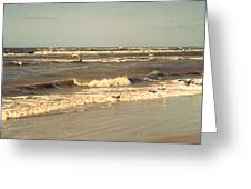 North Sea Coastal Line 1. Holland Greeting Card