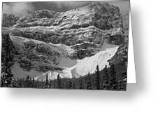 1m3536-bw-north Side Crowfoot Mountain  Greeting Card