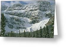 1m3536-north Side Of Crowfoot Mountain Greeting Card