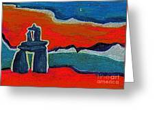 North Story Inukshuk By Jrr Greeting Card