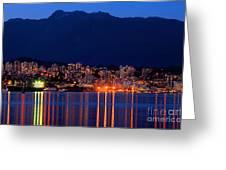 North Vancouver At Dusk Greeting Card