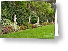 North Vista - Spring Flower Blooms At The North Vista Lawn Of The Huntington Library. Greeting Card