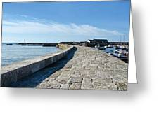 North Wall - Lyme Regis Harbour 2 Greeting Card