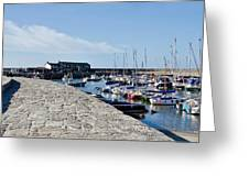 North Wall - Lyme Regis Harbour Greeting Card