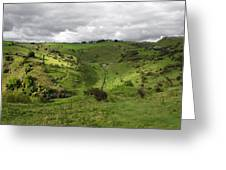 North West - Along Cressbrook Dale Greeting Card