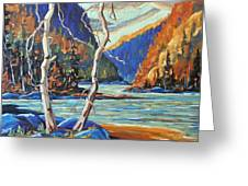 North West Lake By Prankearts Greeting Card