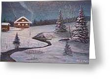 North Woods Cabin Greeting Card