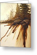 North Woods Pines Greeting Card