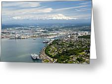 Northend And Downtown Tacoma, Port Greeting Card