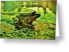 Northern Leopard Frog Greeting Card