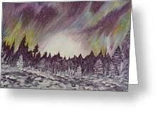 Northern Lights  Greeting Card by Irina Astley