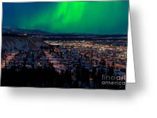 Northern Lights Over Whitehorse Greeting Card