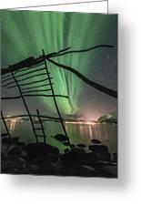 Northern Lights Rays Greeting Card