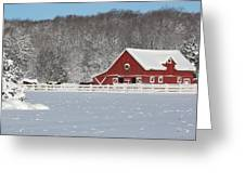 Northern Michigan Country Winter Greeting Card