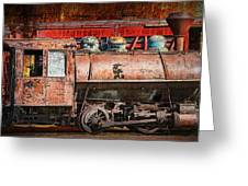 Northern Pacific Vintage Locomotive Train Engine Greeting Card