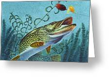 Northern Pike Spinner Bait Greeting Card