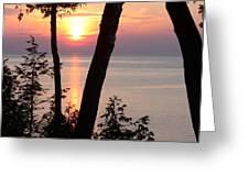 Northern Sunset Greeting Card