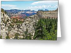 Northgate Peaks Trail From Kolob Terrace Road In Zion National Park-utah Greeting Card