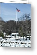 Northport Gazebo In The Snow Greeting Card