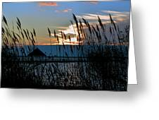 Ocean City Sunset At Northside Park Greeting Card