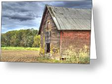 Northwest Barn Greeting Card by Jean Noren
