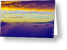 Northwest Sunrise Cloudscape Greeting Card