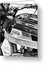 Norton Dominator Motorcycle Monochrome  Greeting Card