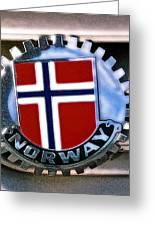 Norway Car Emblem Greeting Card