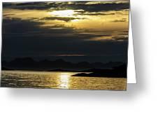 Norway Dramatic Evening Light Greeting Card