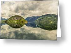 Norway Serenity In Panorama Greeting Card