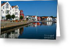 Norway Waterfront Greeting Card