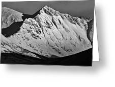 Norwegian Arctic Mountains Greeting Card