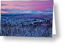Norwegian Arctic Twilight Greeting Card by David Broome