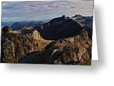 Norwegian Autumn Fjordland Panorama Greeting Card