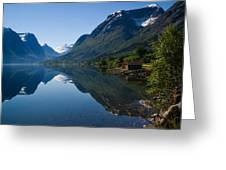 Norwegian Cottages Greeting Card