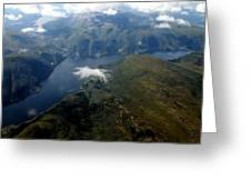 Norwegian Fjord From On High Greeting Card