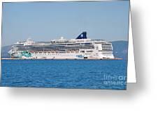 Norwegian Jade Cruise Ship Corfu Greeting Card