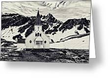 Norwegian Lutheran Church Grytviken Greeting Card