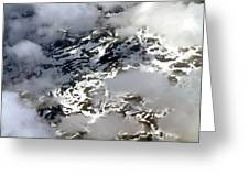 Norwegian Mountains From On High Greeting Card