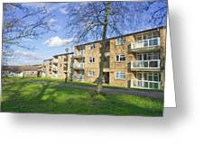 Norwich Apartments Greeting Card by Tom Gowanlock