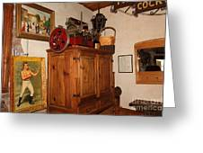 Nostalgic Corner In The Cellar Room At The Swiss Hotel In Sonoma California 5d24442 Greeting Card by Wingsdomain Art and Photography
