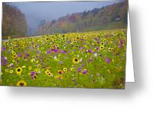 Notch Flowers Greeting Card