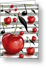 Notes Of Fruits Greeting Card