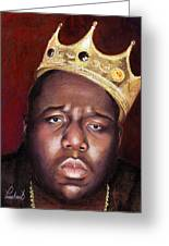 Notorious Big Portrait - Biggie Smalls - Bad Boy - Rap - Hip Hop - Music Greeting Card
