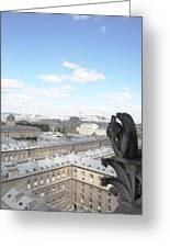 Notre Dame 2 Paris France Landscape Greeting Card