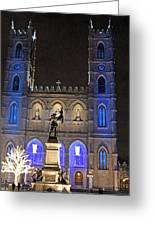 Notre-dame Basilica Of Montreal Greeting Card